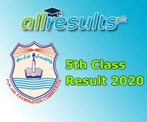 5th Class Reuslt 2020
