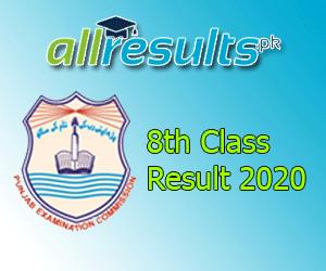 8th Class Reuslt 2020