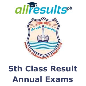 PEC 5th Class Reuslt 2020 of Annual Exams