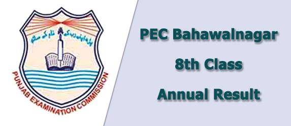 PEC Bahawalnagar Board 8th Class Result