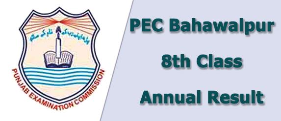 PEC Bahawalpur Board 8th Class Result