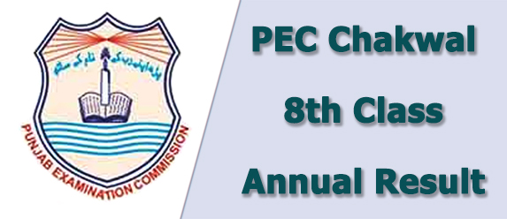 PEC Chakwal Board 8th Class Result