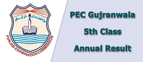 pec gujranwala board 5th class result 2019