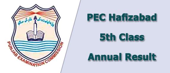 pec Hafizabad board 5th class result 2019