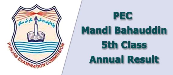 pec Mandi Bhauddin board 5th class result 2021
