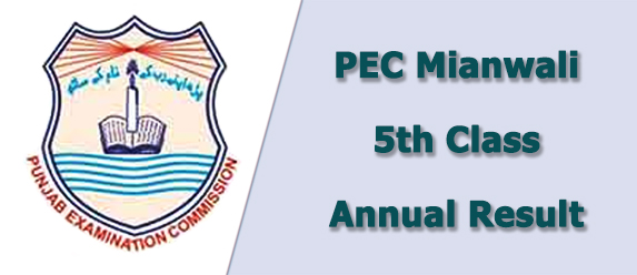 pec Mianwali board 5th class result 2021