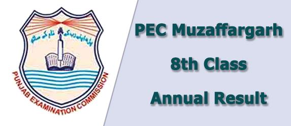 PEC Muzaffargarh Board 8th Class Result