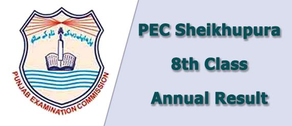 PEC Sheikhupura Board 8th Class Result