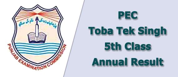 pec Toba Tek Singh board 5th class result 2021