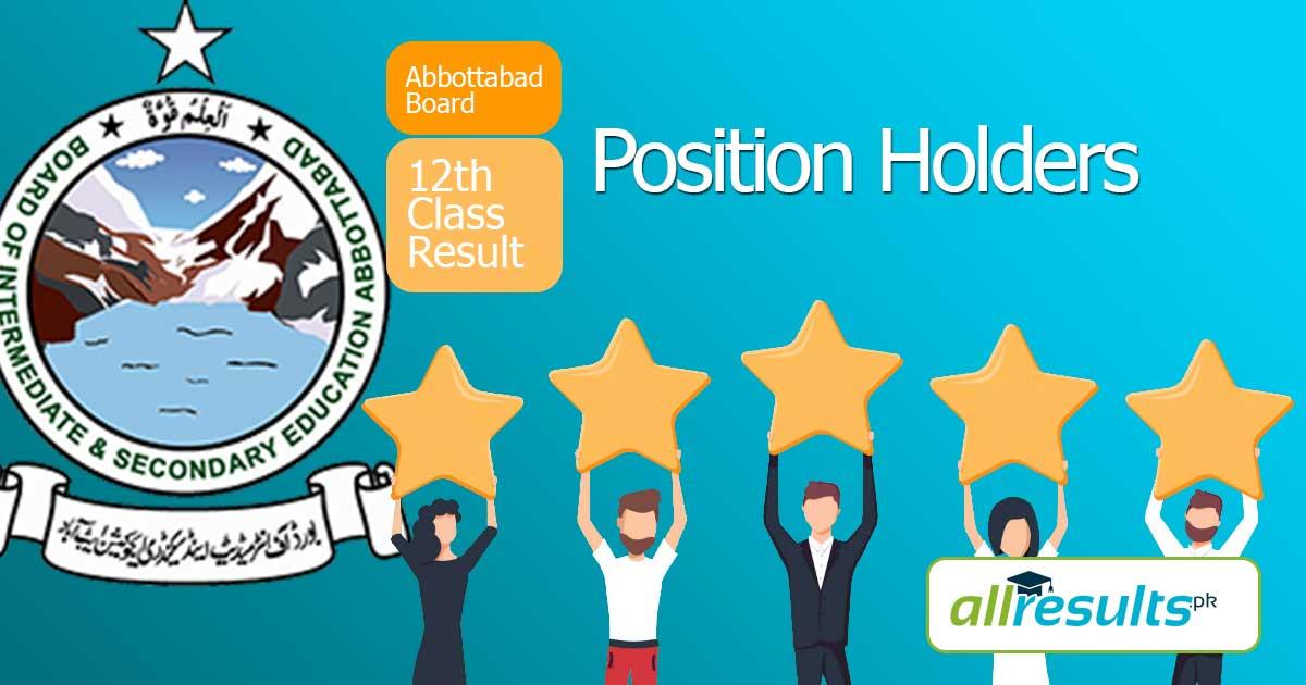 BISE Abbottabad Inter Position Holders