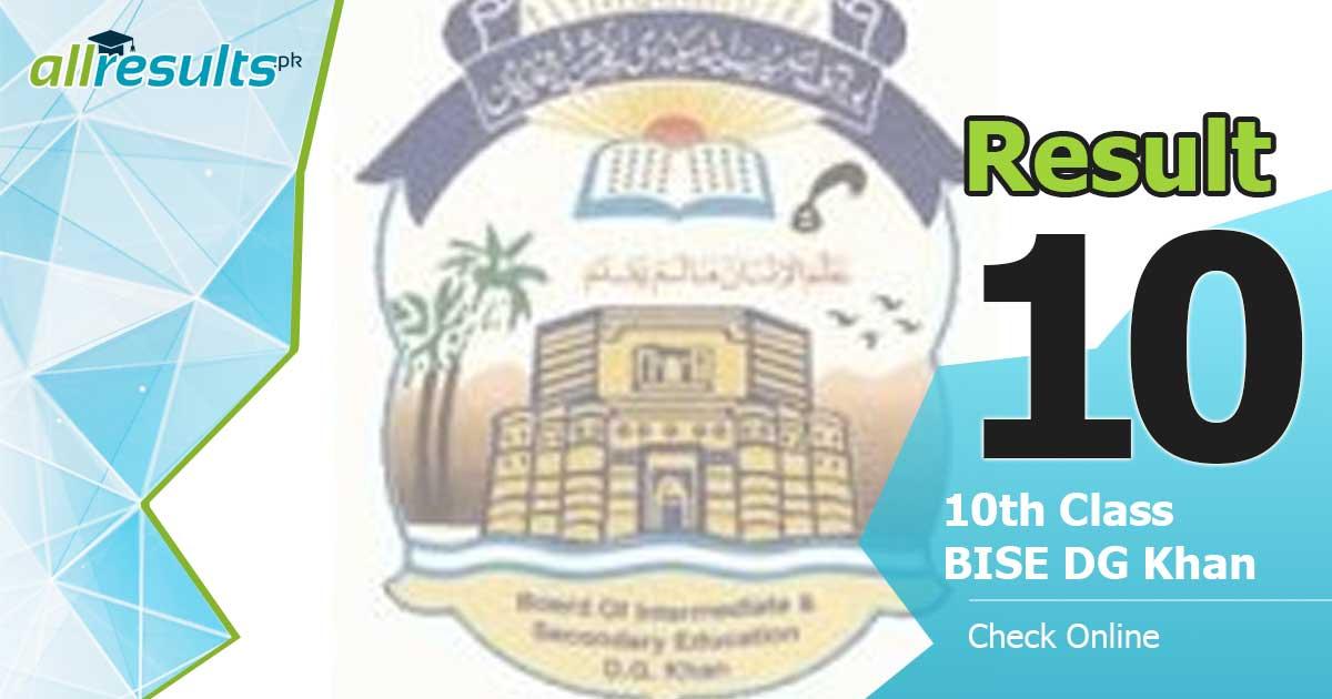 DG Khan board 2021 result of class 10