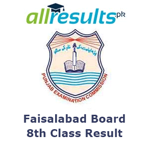 BISE Faisalabad Board 8th Class Result 2021