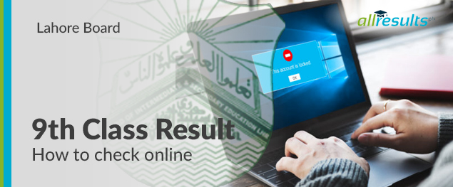 bise lahore 9th class exams result