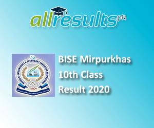 BISE Mirpurkhas Board 10th Class Result 2020