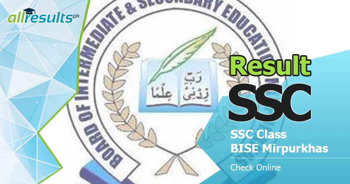 bise mirpurkhas board ssc class result 2021
