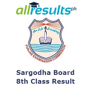BISE Sargodha Board 8th Class Result 2021