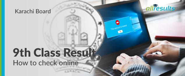 bise karachi 9th class exams result